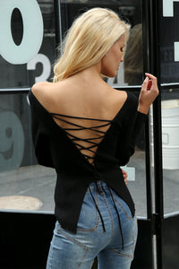 Lace Up Criss Cross Pullover (3 colors)