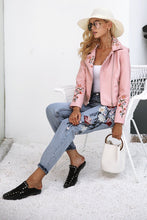 Floral Embroidery Boyfriend Jeans