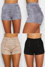Lace Up Suede Shorts (3 colors)