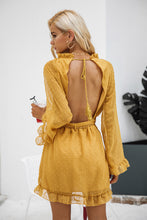 Backless Ruffle Hem Dress