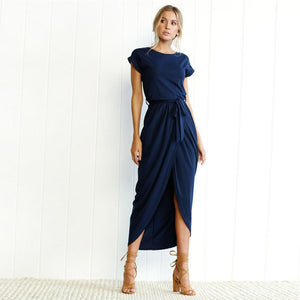 Maxi Wrap Party Dress