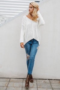 Knitted Cross Top Sweater