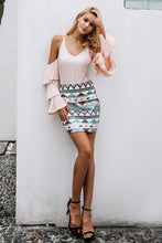 Sequin Geometric Skirt