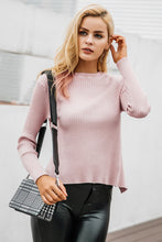 Backless Bow Knit Sweater