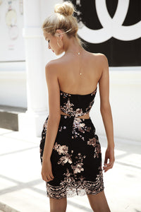 Sequined Cut Out Dress