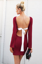 Backless Bow Tie Dress