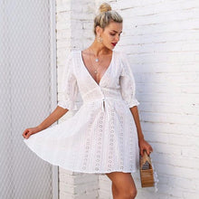 Hollow Out Lace Casual Dress