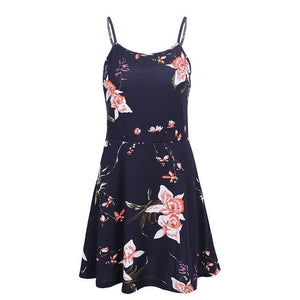 Floral Print Mini Summer Dress