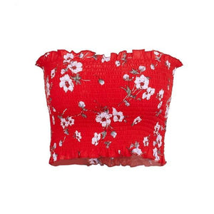Strapless Floral Knit Crop Top (3 variations)