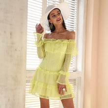 Off Shoulder Ruffled Lace Dress (3 colors)