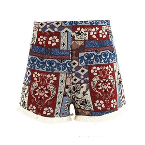 Boho High Waist Shorts (3 styles)