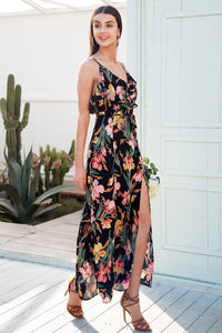 Ruffled Split Maxi Dress (2 colors/patterns)