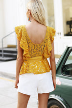 Backless Ruffled Lace Blouse (2 colors)