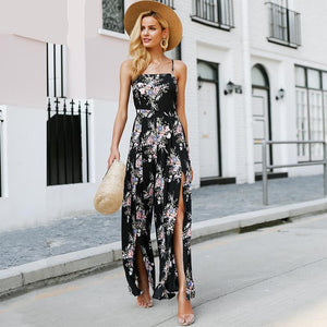 Elegant Bohemian Split Leg Jumpsuit (2 colors)