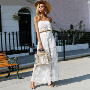 Off Shoulder Lace Two-Piece Jumpsuit