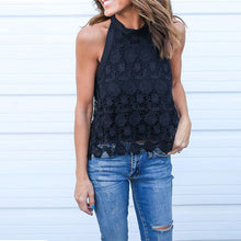 Backless Lace Crochet Halter Top (2 colors)