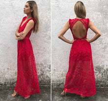Lace Open Back Maxi Dress (3 colors)