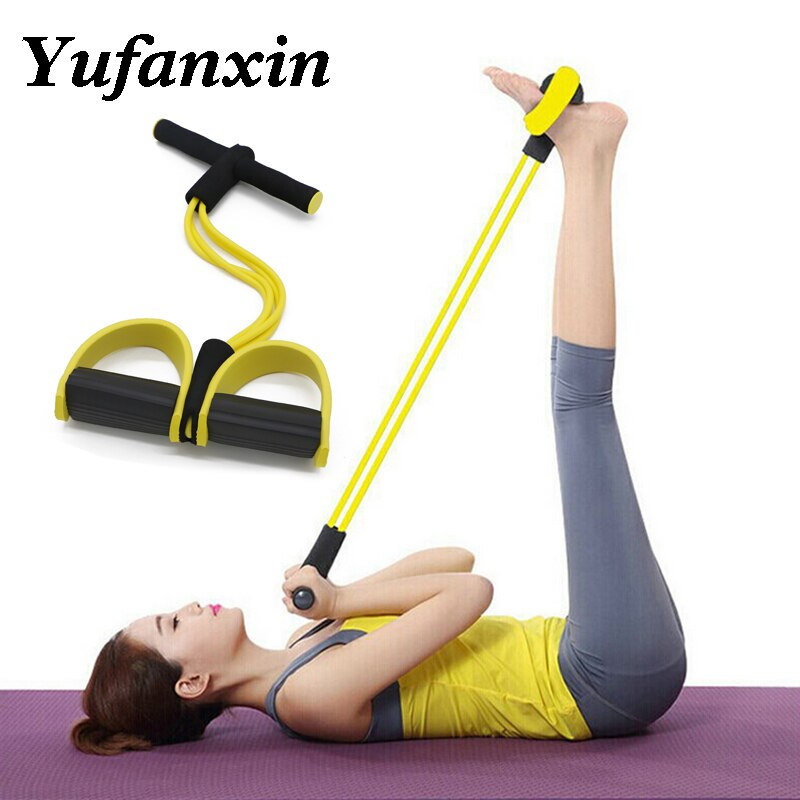 Elastic Pull Ropes Fitness Resistance Band Rope Exercise Equipment for Yoga Pilates Workout Latex Tube Pull Rope Home Gym Sport