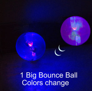 "4""  Big Dog Ball Toy With 4 Long Lasting Colorful Lights. Small To Medium Dogs Are Obsessed With Chasing This Playful Bounce Ball Toy"