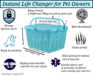 PET TRAVEL JUST GOT EASIER! Transport your pet safely & comfortably w/ Amazing Pet Carrier! How can you get your paws on one?🐾(Limit 10 pet carriers per customer)