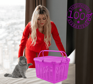 "<font size=""4"">AMAZING PET CARRIER THAT WORKS<BR><ul><li align=""left"">Secure Strong Long(keep pet safe)</li><li align=""left"">Generous Wide opening</li><li align=""left"">Lightweight</li><li align=""left"">100% Satisfaction Guarantee</font></li></ul> 🐾"