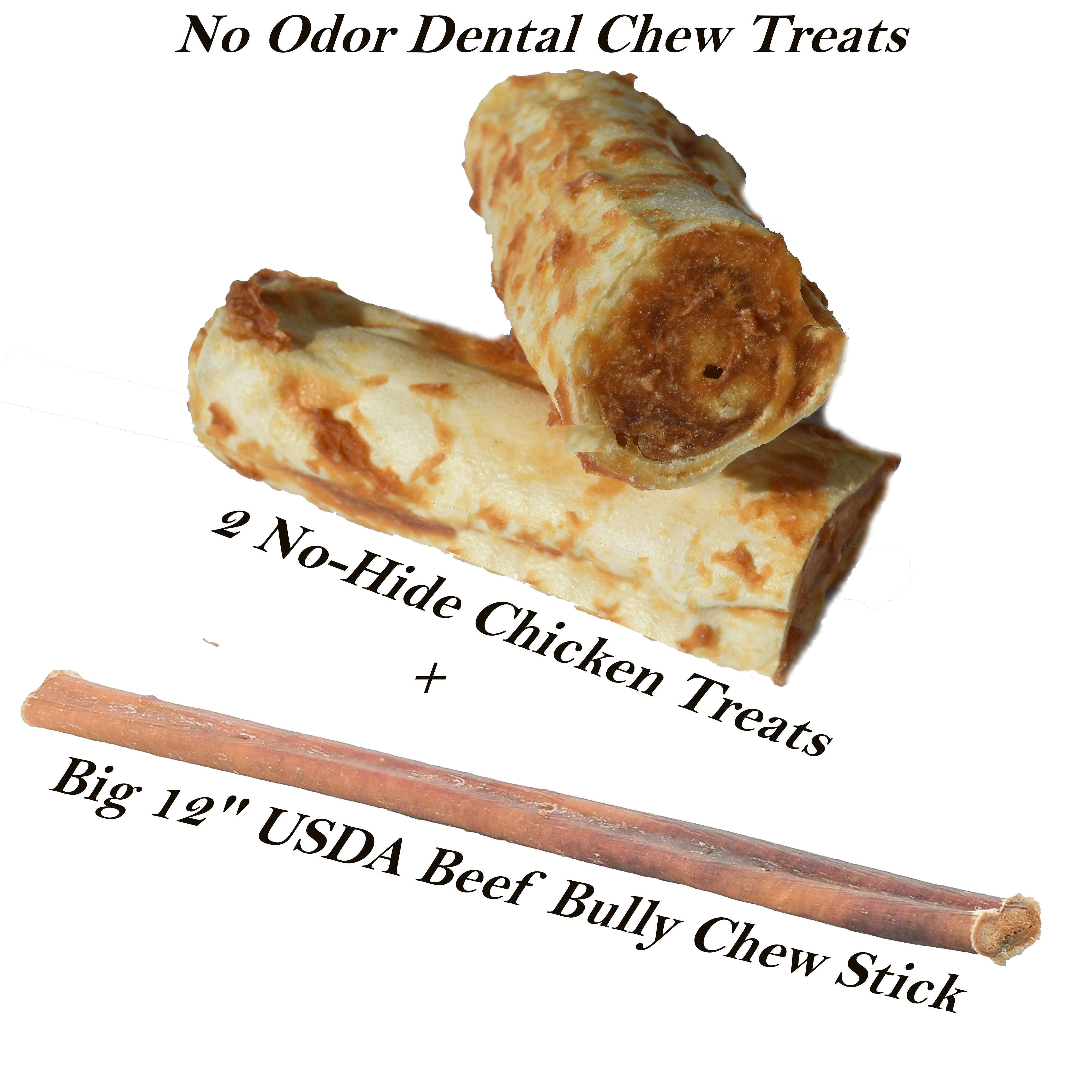 3 Dog Dental Chew Treats Set -2 Different Flavors-NO Mess Keep Them  Busy Treat