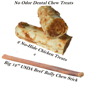New! 3 Dog Dental Chew Treats Set -2 Different Flavors-Enjoy the Best of Both Worlds