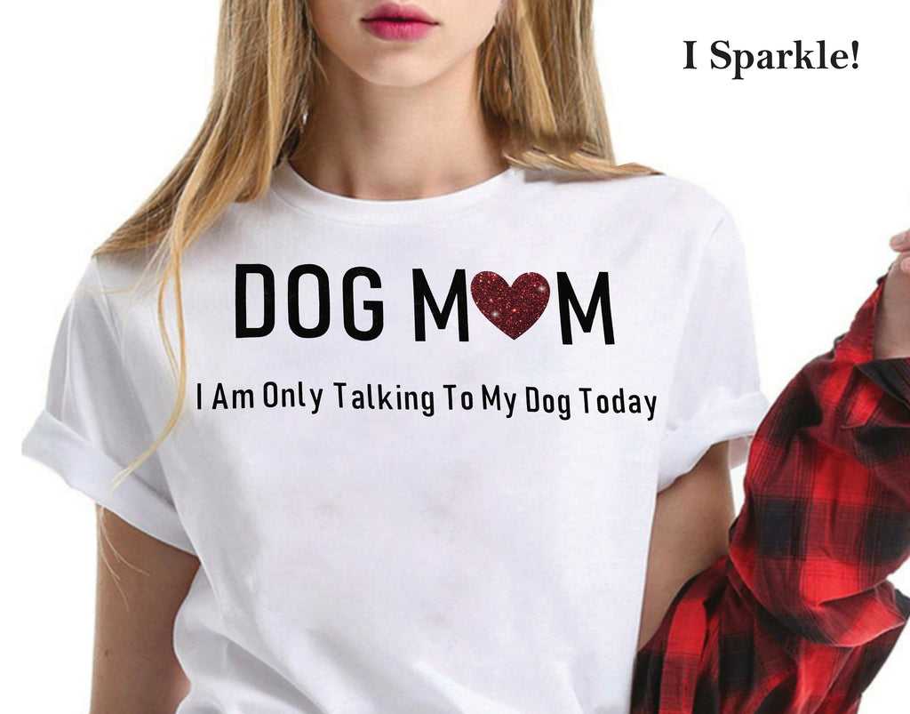 Funny Dog Mom White Graphic T-Shirts 100% Cool Cotton No Tags Summer Clothing Gift For Her, Mom, Fur Mama, Rescue Dogs-Want to Make Someone Smile and look good too?