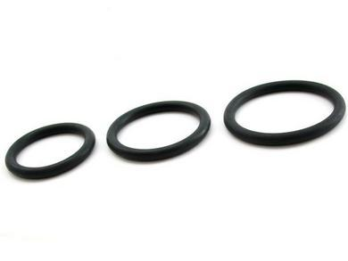 Heart2Heart Nitrile Cock Ring 3 Pack - Black