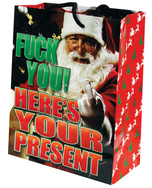 Fuck You Here's Your Present Gift Bag - Santa