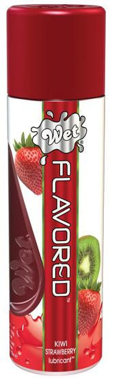 Wet Clear Flavored Personal Lubricant - 3.6 oz Kiwi Strawberry