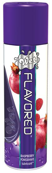 Wet Clear Flavored Personal Lubricant - 3.6 oz Pomegranate
