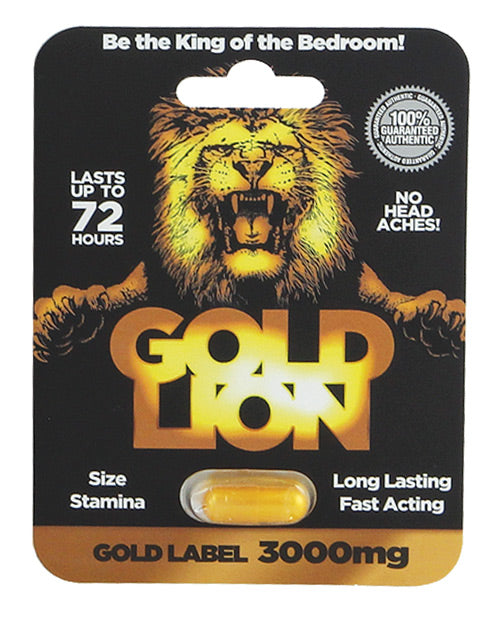 Gold Lion Male Sexual Enhancement Pill 3000 mg - 1 Capsule Blister