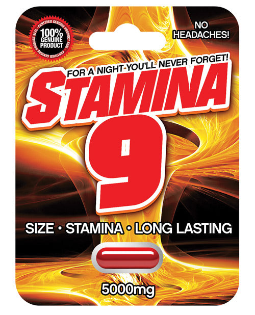 Stamina 9 Male Sexual Enhancement Pill - 5000 mg 1 Capsule Blister