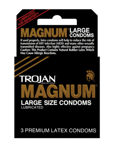 Trojan Magnum Condoms - Box of 3