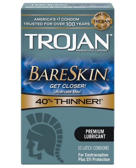 Trojan Bare Skin Condoms - Box of 10