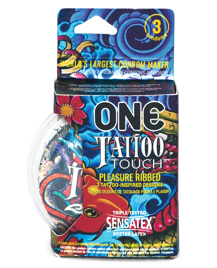 One Tattoo Touch Condoms - Pack of 3
