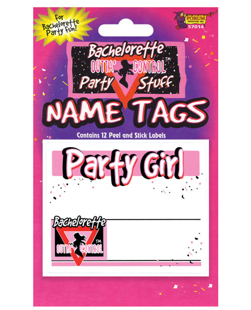 Bachelorette Name Tags - Pack of 12