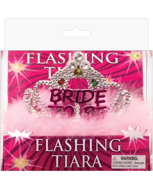 Flashing Bride to be Tiara w/Pink Marabou
