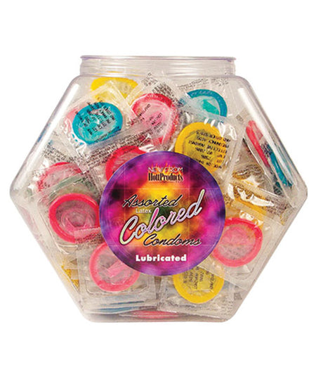 Tub of Colored Condoms - Display of 144 Asst. Colors