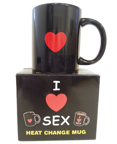 I Love Sex Heat Changing Heart Mug