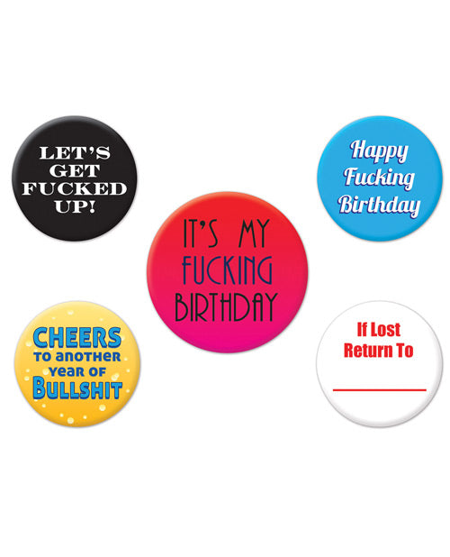 Funny Birthday Party Buttons