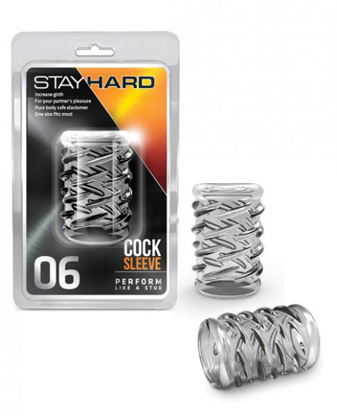 Blush Stay Hard Cock Sleeve 06 - Clear