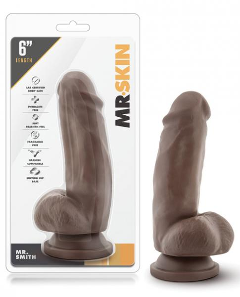 "Blush Dr. Skin Mr. Skin 6"" Dildo w/Suction Cup - Mr. Smith"