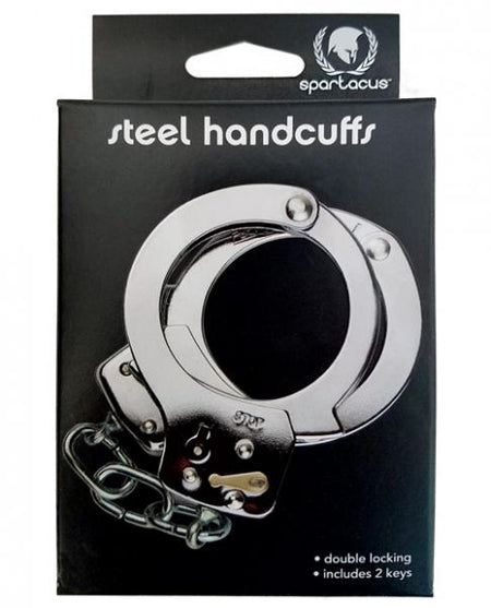Spartacus Dual-Locking Nickel Handcuffs