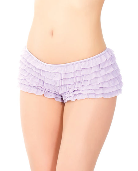 Ruffle Shorts w/Back Bow Detail Lilac XXL