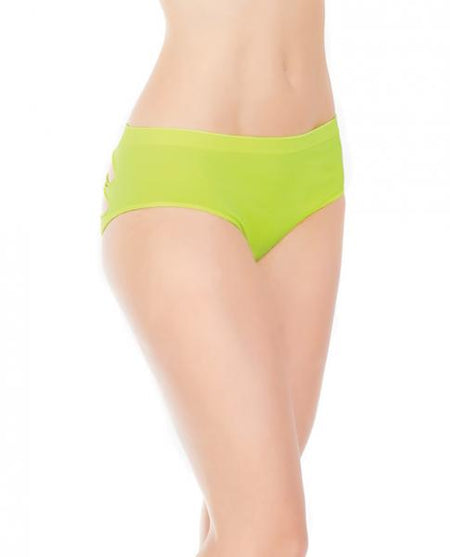 Stretch Knit Panty w/Center Back Slashes Yellow OS/XL