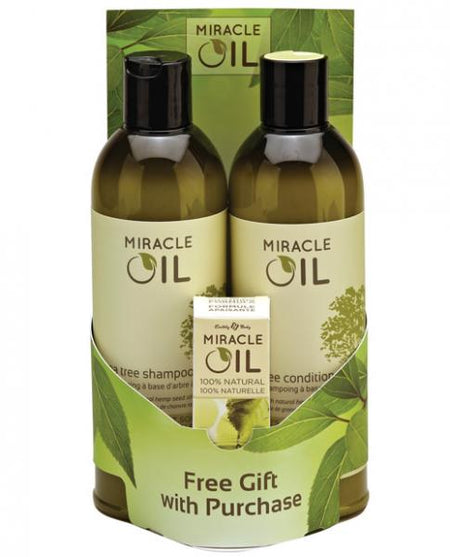 Earthly Body Miracle Oil Shampoo & Conditioner Pack w/Free Gift
