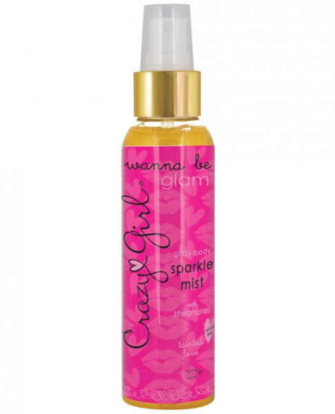 Crazy Girl Glitzy Gold Body Sparkle Mist w/Pheromones - 4 oz Tainted Love