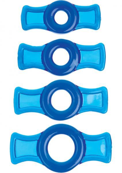 Titanmen Tools Cock Ring Set - Blue